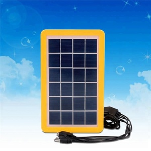6V3W Grade A polycrystalline solar cell 5in1 laptop charger cell phone mini solar panel
