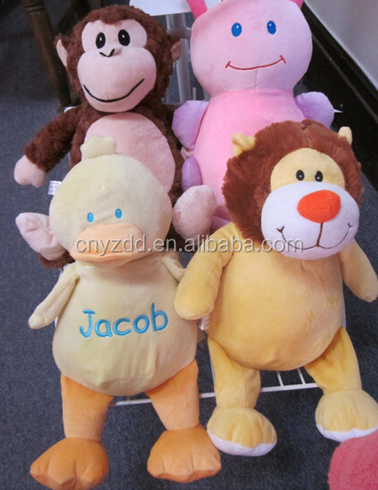 free sample plush toys for crane machines/Cheap custom plush toys for crane machines/15-20cm size plush soft animal toys