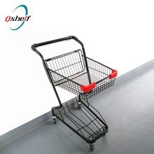 supermarket metal advertising frame/shopping lists clip holder rack for supermarket cart
