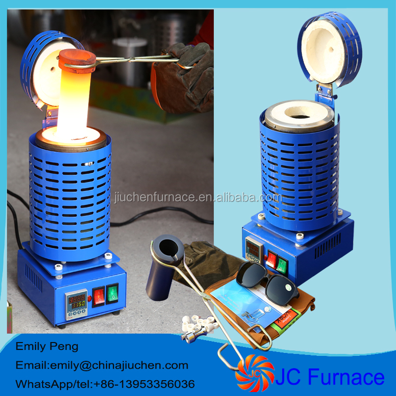 4KG JC Vertical Portable Handheld Gold Smelting Furnace