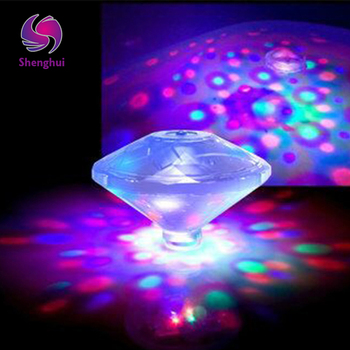 Flashing Crystal Light for Wedding 72pcs/lot Multicolor Creative LED Lamp Waterproof Led Diamond Light