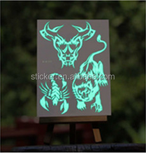 Custom-made temporary glow in dark body tattoo sticker