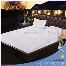 Hotel Durable Cotton mattress pad with mattress protector