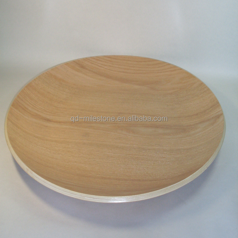 Oak Wood Food Tray Plate
