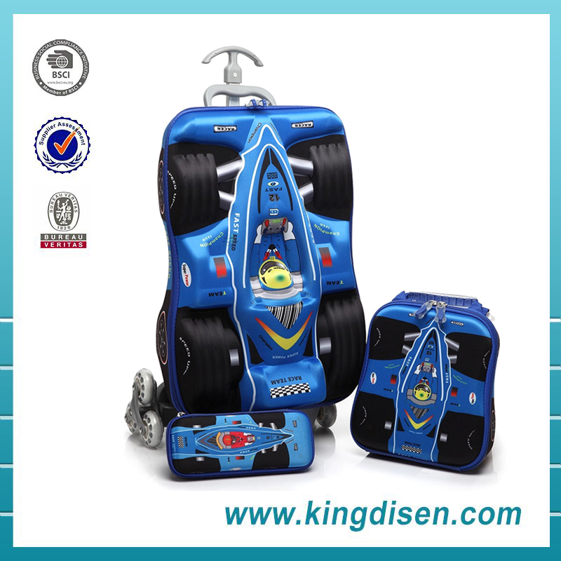New products wholesale EVA car shape kids travel luggage