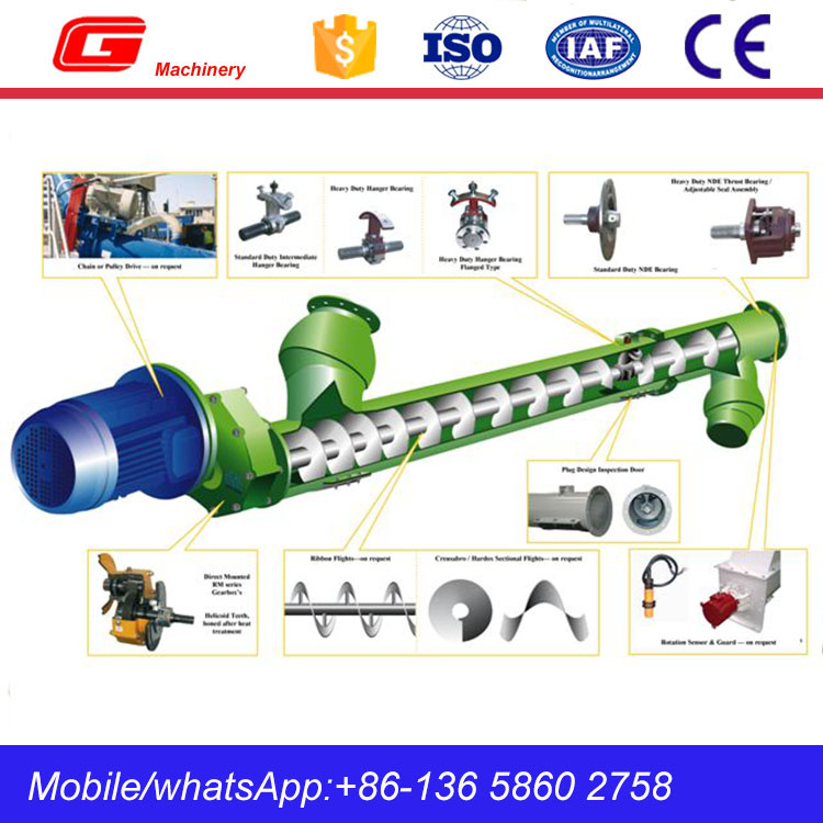 Transport cement powder auger screw conveyor on sale