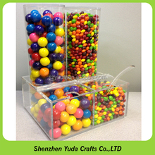High grade transparent acrylic display candy jar , plexiglass candy box for store