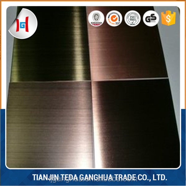 High quality color coating PVD stainless steel sheet