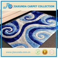 High end oriental design blue /white mix soft floor area shaggy rug for living room