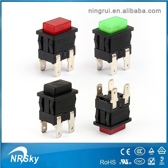 2015 UL approved latched schalter nova kan-l6 push button switch