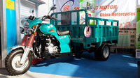 heavy loaded three wheels water-cooled adult tricycle 200cc truck design cargo