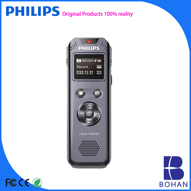 PHILIPS 8GB Voice Recorder Password Protect with Digital Time Stamp