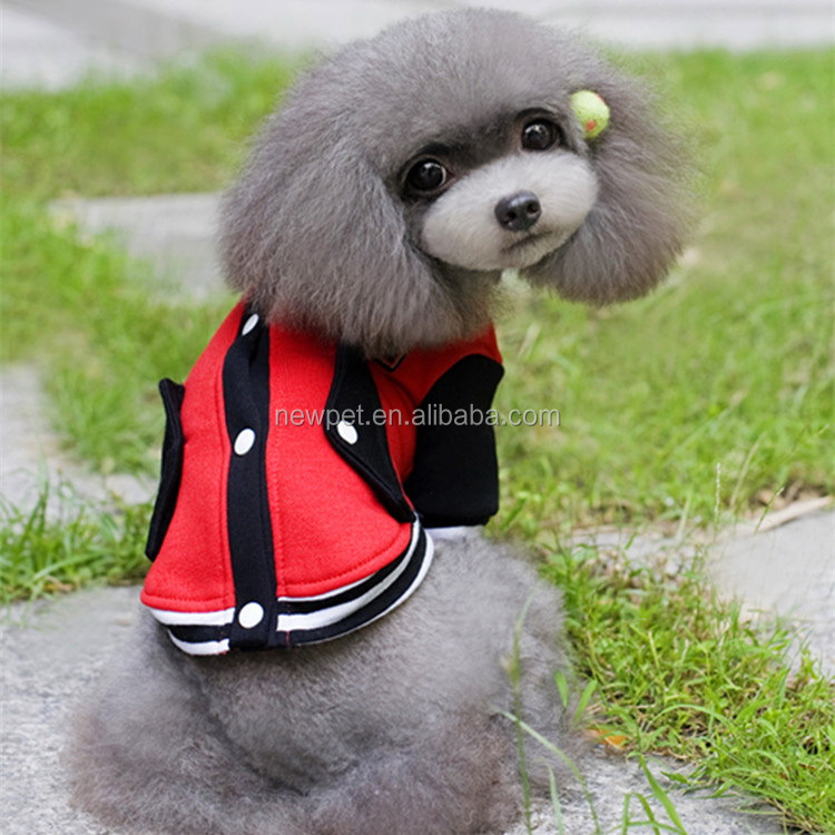 Top level hot sell hoodie baseball sport clothes designer autumn and winter dog sweater xxxl