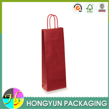 Cheap reusable 750ml paper bag in box for wine
