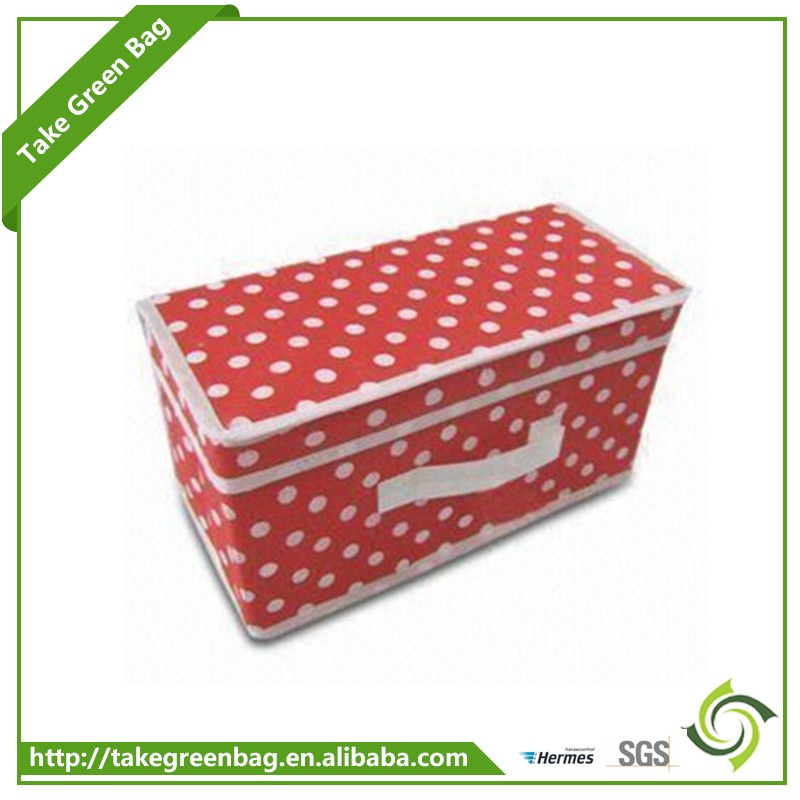 2017 Hot sale non-woven storage organizer box with lid