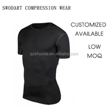 2016 swodart compression <strong>sports</strong> short sleeve training wear runing suit top wearOEM wholesale