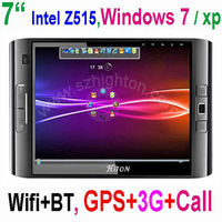 Factory Price 7 inch windows 7 tablet pc with bluetooth,GPS &3G