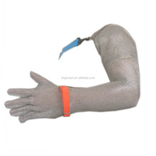 Stainless Steel Ring Mesh Shoulder Length Ring Mesh Glove With Five Fingers Protection