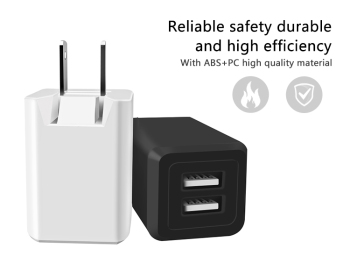 Shenzhen good-she AC DC phone charger Dual Usb Smart Charger Adapter Voltage Dc 5v foldable power adapter