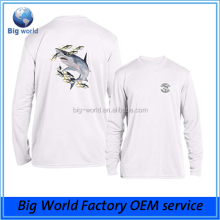 100% polyester Piscifun Performance UPF Long Sleeve uv dye sublimation print wholesale fishing shirts