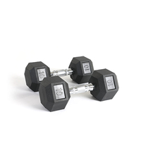 Fast Delivery Gym Weight Lifting Basic Equipment Rubber Coated Hex Dumbbell