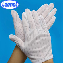 esd stripe glove for electronic workshop