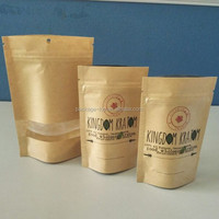 Custom recycled kraft paper bags packaging Sunflower seed to paper