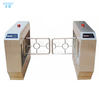TurnStiles security swing barrier Gate with RS485 / TCP / IP interfaces , Emergency function, 50w