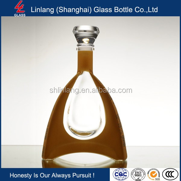 High Transparency Crystal Glass Bottle for Brandy