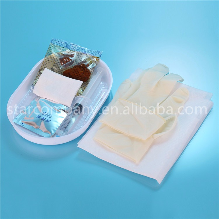 Good quality Disposable Urethral Catheterization tray with foley catheter