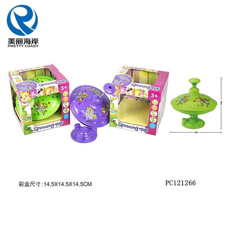 Flash and music plastic top spinning toys funny gyro spinning top