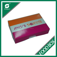 CUSTOM PRINTING PAPER DONUT BOX FOOD GRADE LUNCH DELIVERY BOX FOR PACKAGING WHOLESALE