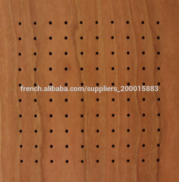 Panneau Bois Perforé Acoustique - Panneau acoustique perforé en bois Panneaux insonorisants ID de produit 500002584334 french