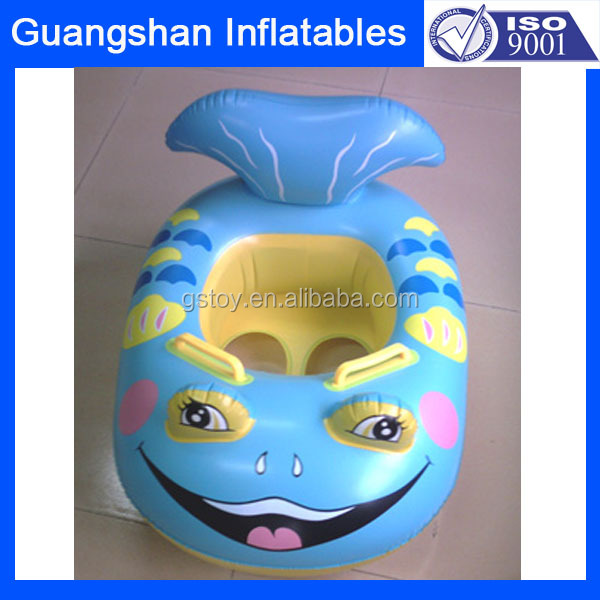 Dolphin Inflatable Baby Toddler Swim Pool Safe Ring Float Boat Seat