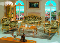 Italian Classic furniture finished in solid wood frame with gold leaf gilding living room furniture