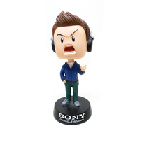 Resin Customized Cartoon Cute Boy Shape Character Bobble Head