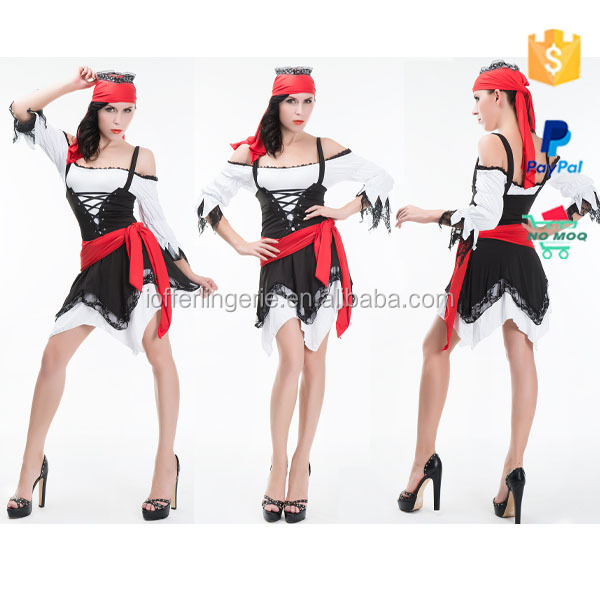 Hot Sale Sexy Burlesque Fancy Dress Costumes Pirate