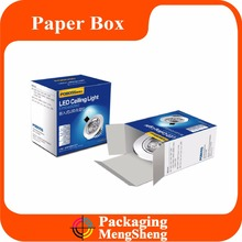 Wholesale Printed cardboard paper box packaging/custom led light small white packaging boxes