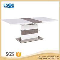 Leisure and Fashion MDF Furniture Wooden High Gloss Paint Dining Table