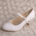 Wedopus Women's White Mary Jane Shoes Bridal