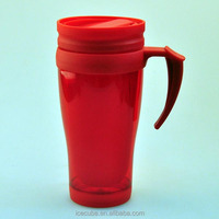 High Quality Wholesale Plastic Tumbler with handle,plastic cup with lid