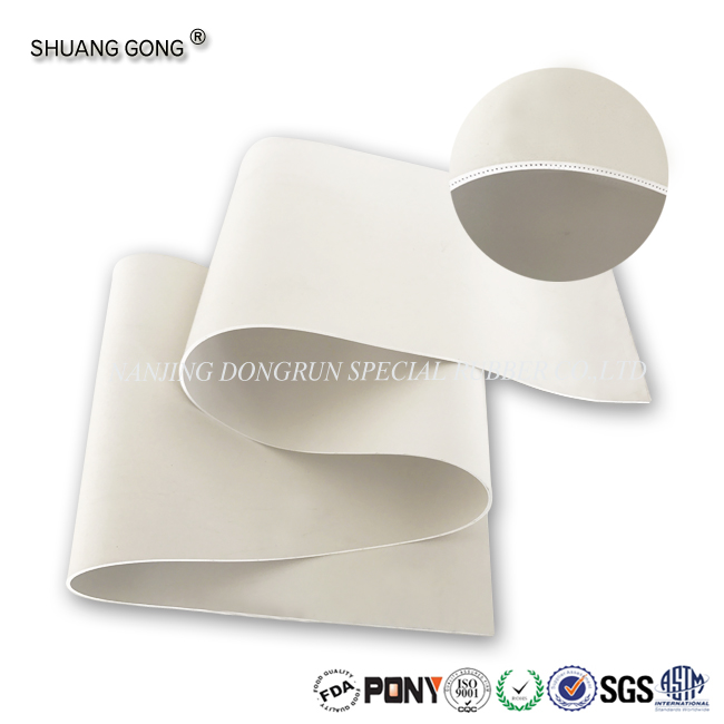 cloth /nylon insertion white color silicone rubber sheet manufacturer
