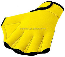 Web-fingered neoprene swimming gloves