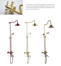 Factory price Antique brass dual handle shower faucet plumbing accessories bathroom fitting