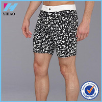 Yihao 2015 hot selling high quality beach shorts mens swim wear board shorts with full dot pattern