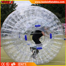2016 TPU&PVC Clear Blue Color Body Zorb Balls Cheap Zorbing Ball Sale for Kids and Adults