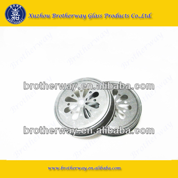 popular daisy-cut lids for mason jars, silver metal lid