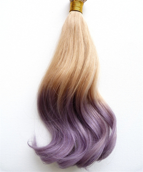 18inch 40pcs 100g/pack 100% Indian Ombre Virgin Remy Human PU Tape Glue Skin Weft Hair Extensions Straight Blonde to Lilac Grey