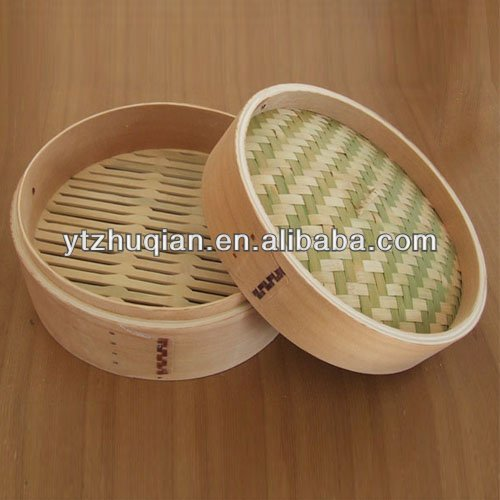 Cheap Chinese Bun Steamer 2 Tier Bamboo Steamer with high quality