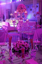 Hot design crystal candelabra centerpieces for wedding with reasonable price